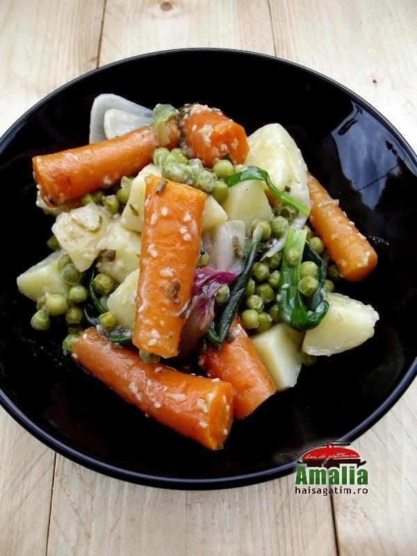 Salata de vara cu legume si sos picant 0