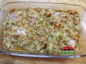 Mancare de pui cu sos de dovlecei 6
