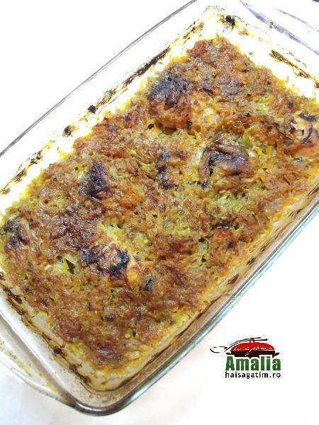 Mancare de pui cu sos de dovlecei 7