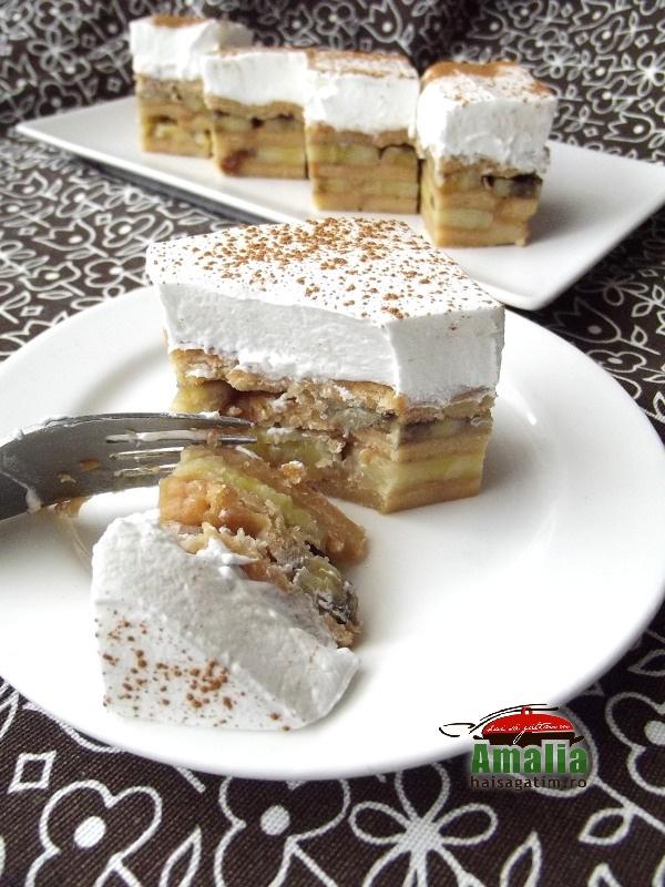 Prajitura cu mere si biscuiti  9
