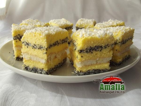 Prajitura cu mac si crema de vanilie  12