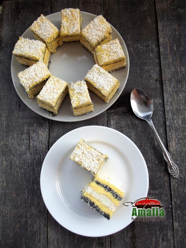 Prajitura cu mac si crema de vanilie  14