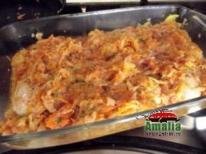 Pui cu sos de dovlecel si morcov  4