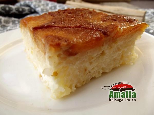 Budinca de orez cu mere caramelizate 3